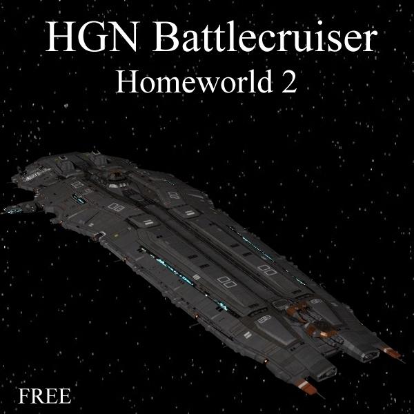 free higaran battlecruiser 3d model