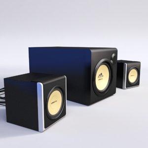 3d model computer speakers