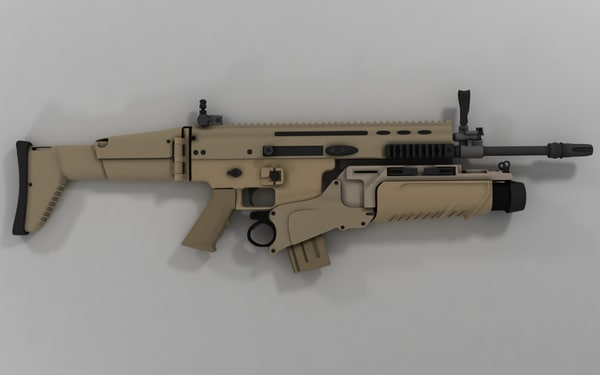 scar-l assault rifle eglm 3d model