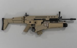 scar-l assault rifle eglm 3d model