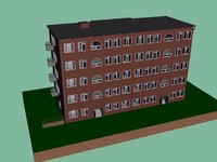 3d model typical russian building 5