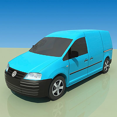3d model low-poly caddy sdi