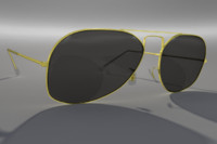 Gold Aviator Style Sunglasses