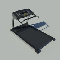 jogging treadmill 3d model