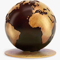 wooden globe classical wood max