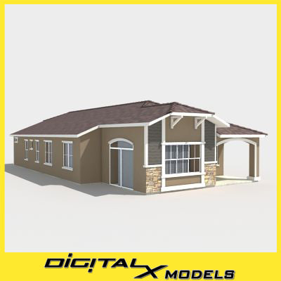 3d 3ds subdivision house