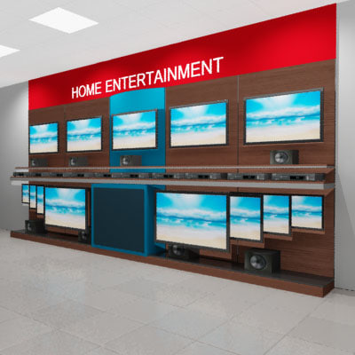 tv wall 3ds