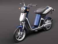 3d model yamaha ec-03 electric scooter