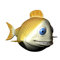 Yellow Cartoon Fish