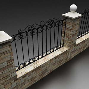 3ds stone fence forged