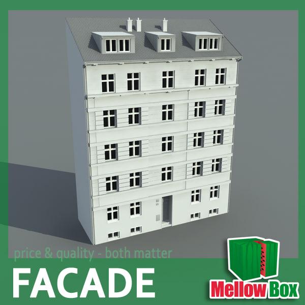 city house facade 3d model