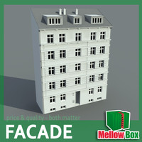 city house facade 3d model