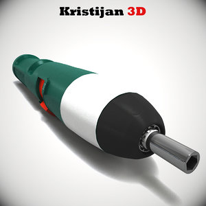 3d realistic screwdriver black decker