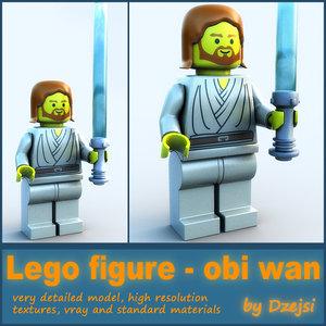 lego character - obi wan 3d model