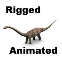 3d max diplodocus dinosaur