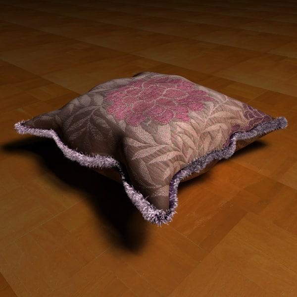 pillow hair 3d c4d