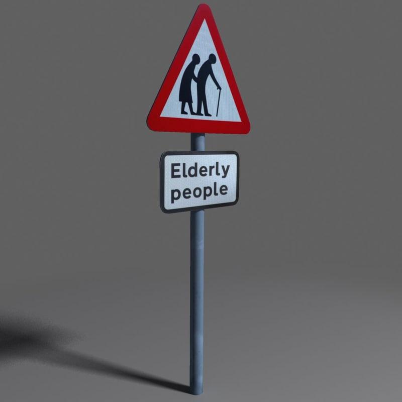3d elderly coz110104448