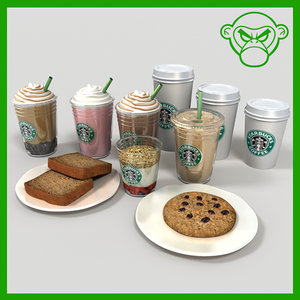 3d coffee drinks