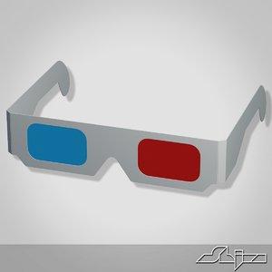 maya anaglyph glasses