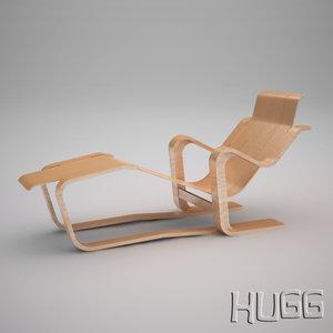 marcel breuer chaise longue 3d max
