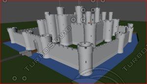 free medievel castle 3d model