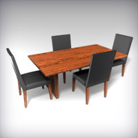 dining room table chairs 3d obj