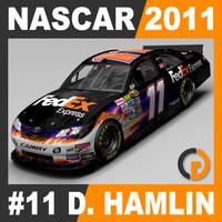 3d model nascar 2011 denny hamlin