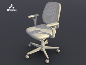 3d model office chair early bird