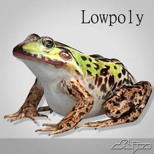 3d frog 2 model