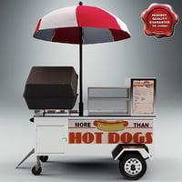 3d hot dog cart