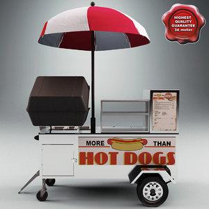 3d hot dog cart