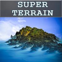 free island terrain landscape 3d model