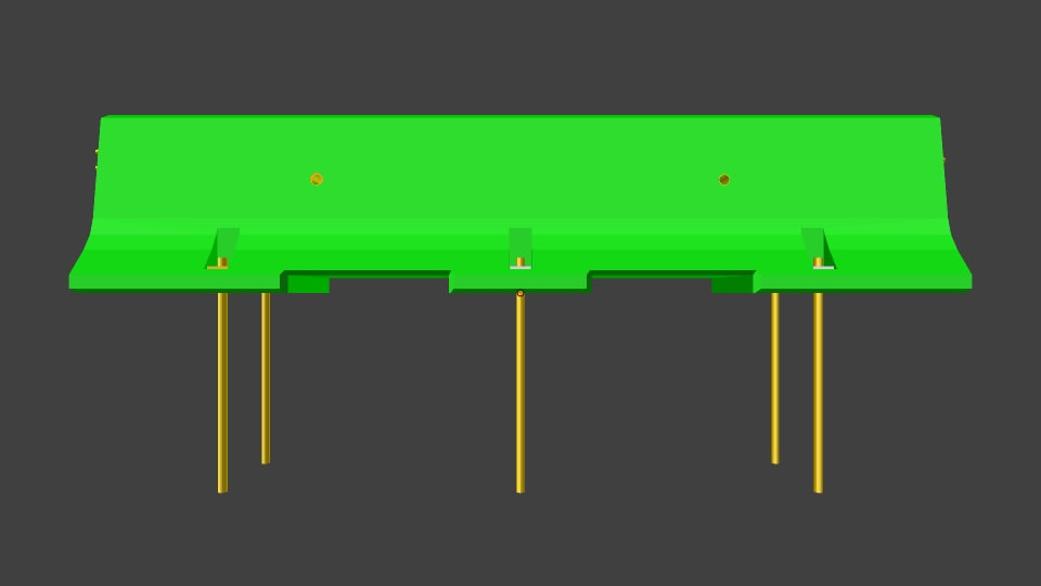 blender type k road barrier