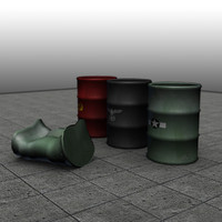 3d model oil drum