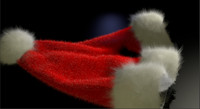 3d model santa s hat
