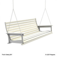 3d model country porch swing