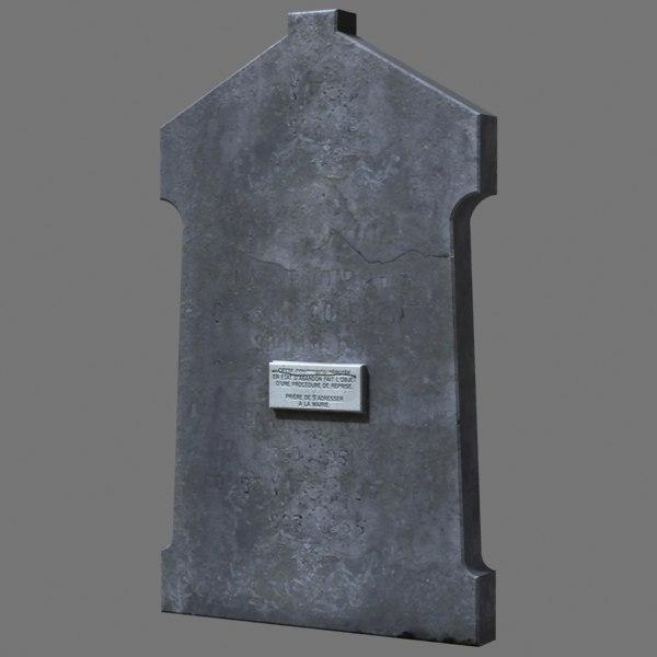3d model of tombstone dug