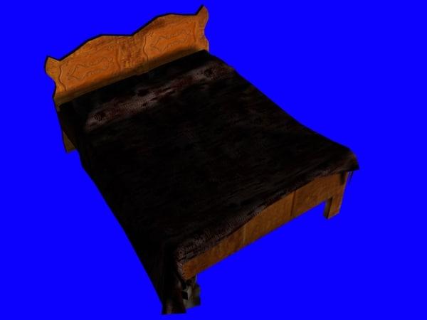 free furniture bed 3d model