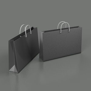 3d shopping bags model