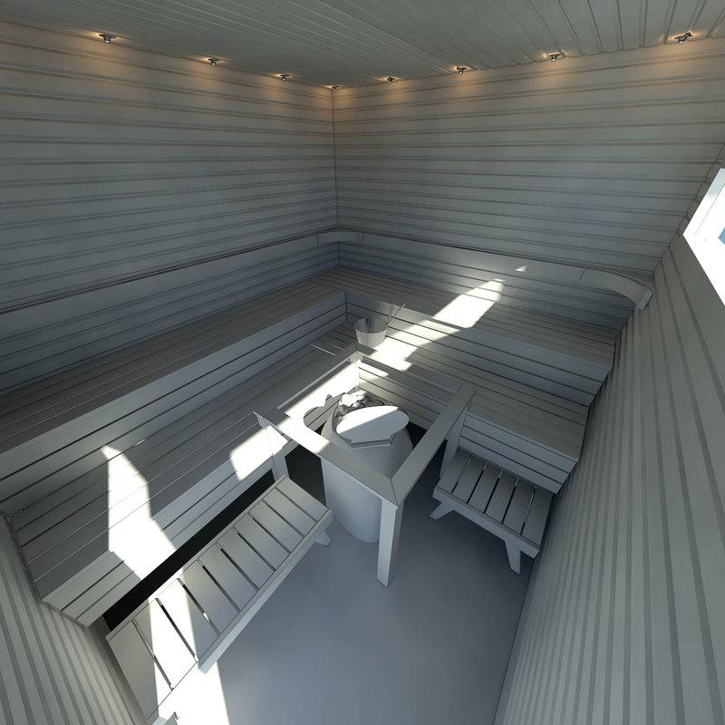 3ds max finnish sauna