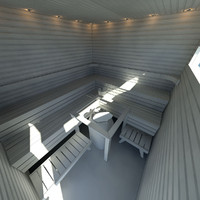 3ds max finnish sauna