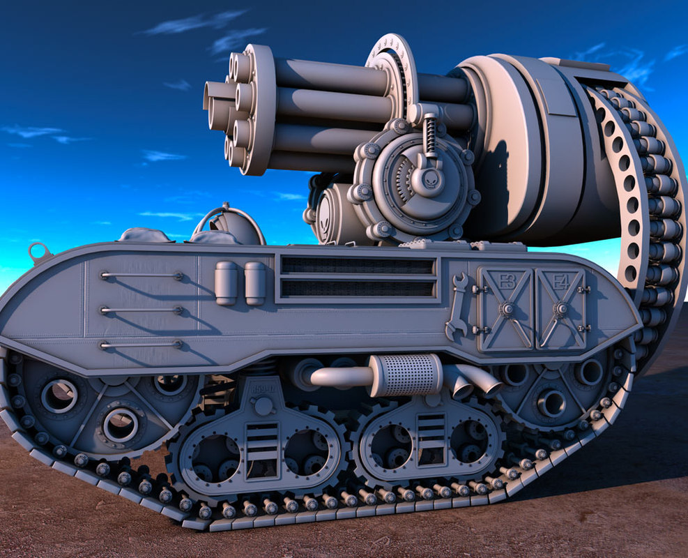 3d model battle tank