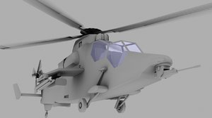 tiger eurocopter army 3d model