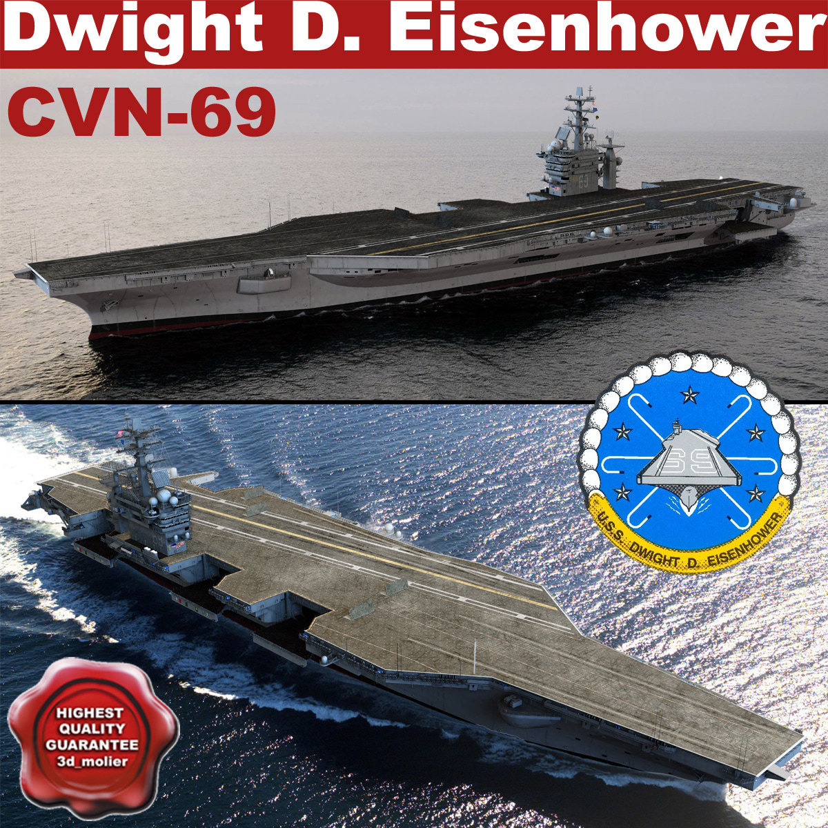 uss dwight eisenhower cvn-69 3d 3ds