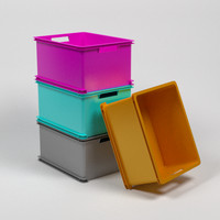 3d stackable plastic storage containers