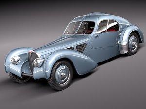 3d model bugatti type atlantic antique