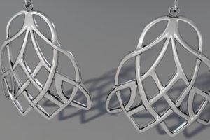 celtic knot earrings 3d obj