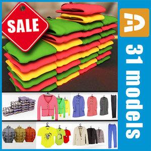 clothes stores malls 3d model
