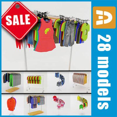 clothes rack 3d model