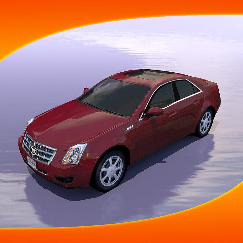 cadillac cts car 3d model